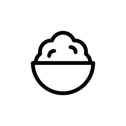 Illustrazione di vettore di servire morbido, icona di stile di linea di dolci