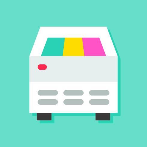 Illustrazione di vettore del frigorifero del gelato, icona piana di stile