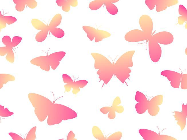 Fondo senza cuciture variopinto del modello di farfalla dell'illustrazione di vettore