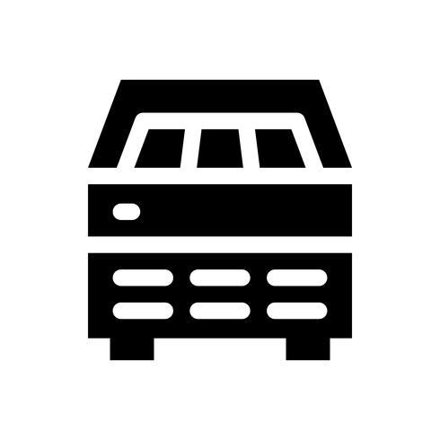 Illustrazione di vettore del frigorifero del gelato, icona solida di stile