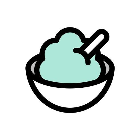 Vettore di servire morbido, contorno icona modificabile di dolci riempito