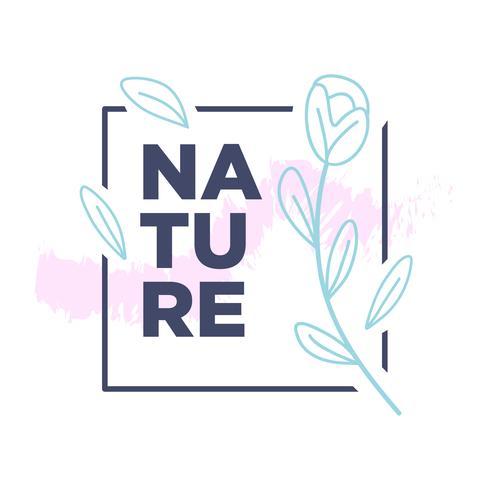 Disegno semplice dell'illustrazione botanica della natura vettore