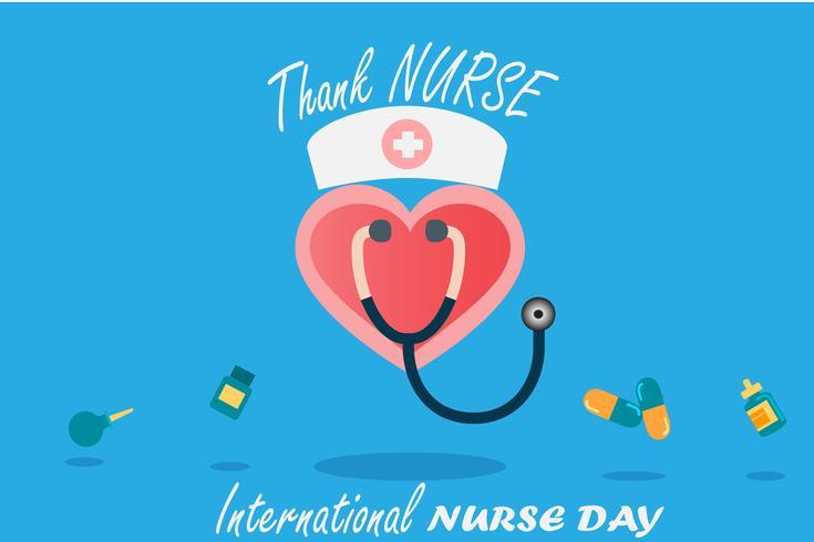 Giornata internazionale dell'infermiera a maggio di ogni anno, design per vettore nel concetto di tono della tonalità
