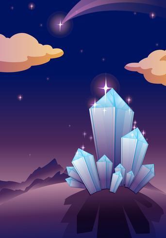 piramidi di cristallo vettore