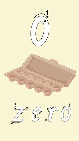 Scatola vuota dell'uovo su fondo bianco vettore
