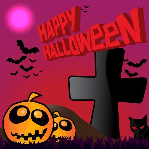 Felice poster di halloween vettore