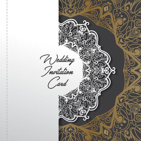 disegno di carta taglio carta invito di nozze vettore