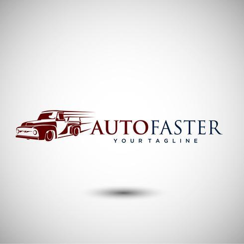Design elegante logo auto vettore