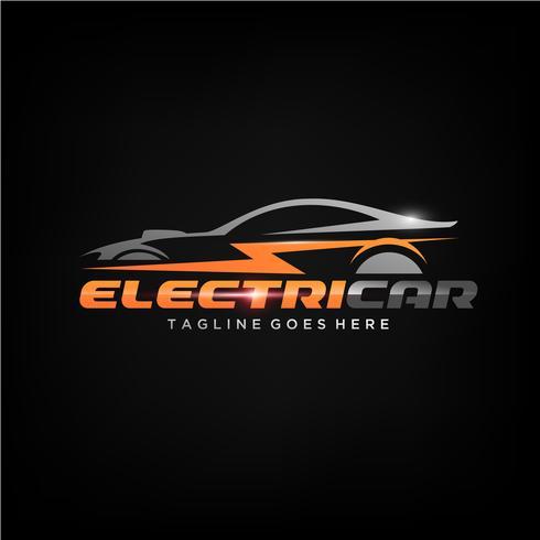 Design del logo auto elettrica vettore