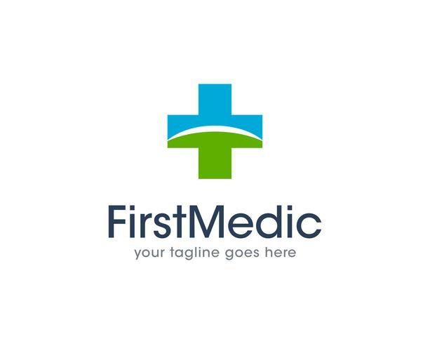 Primo vettore medico dell'icona di logo di salute