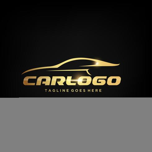 Logo Gold Car design vettore