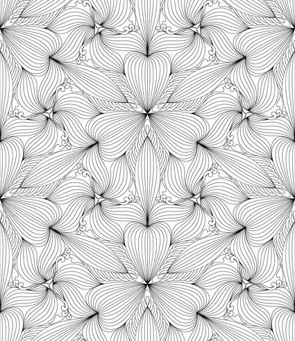 Reticolo geometrico senza giunte astratto, illustrazione vettoriale. vettore