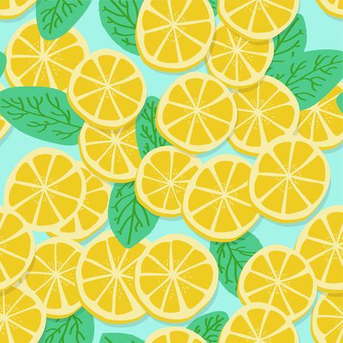 Pattern di limone vettore