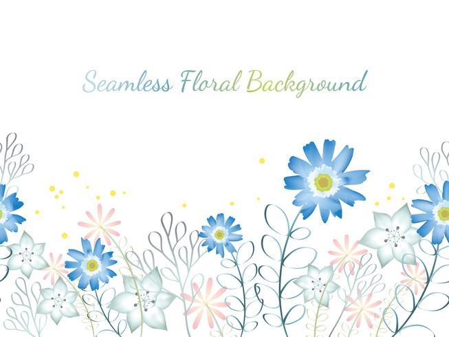 Illustrazione senza giunte della priorità bassa del fiore dell'acquerello con lo spazio del testo. vettore