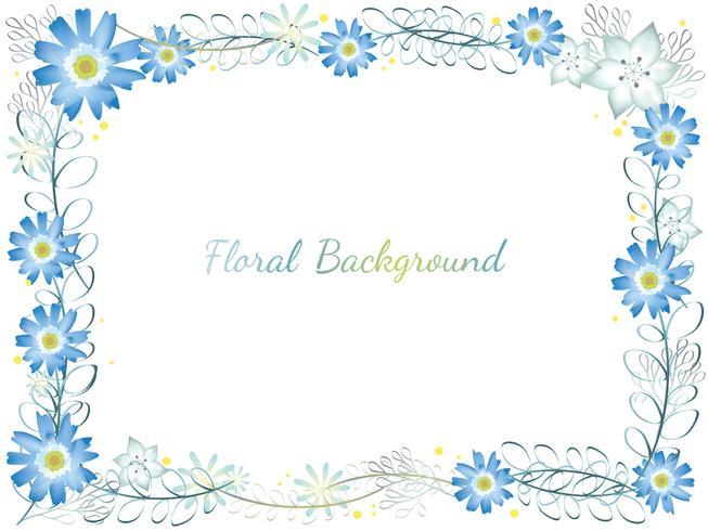 Cornice floreale ad acquerello. vettore