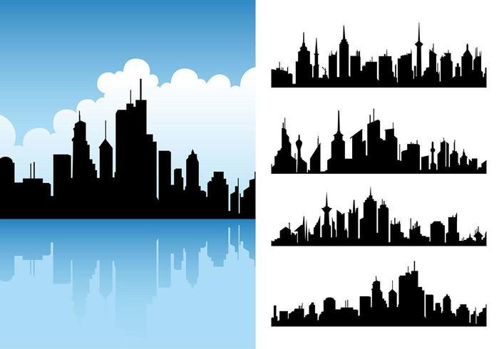 pacchetto di vettore skyline della città