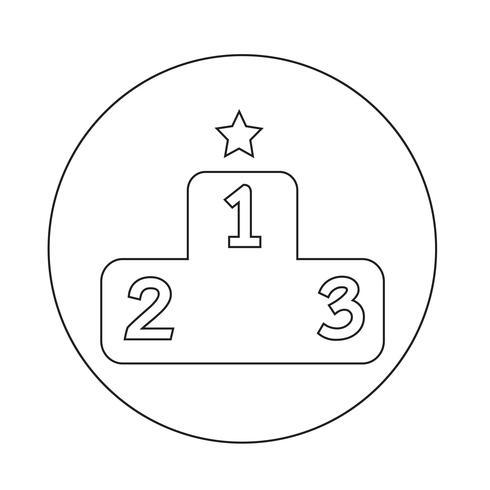Icona del podio vettore