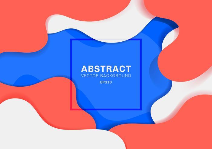 Il liquido dinamico astratto 3D modella il fondo vibrante di colore di concetto moderno. elementi blu, bianchi e rossi con liquido. È possibile utilizzare per brochure, poster, web, pagina di destinazione, copertina, annuncio, saluto, carta, promozione, b vettore