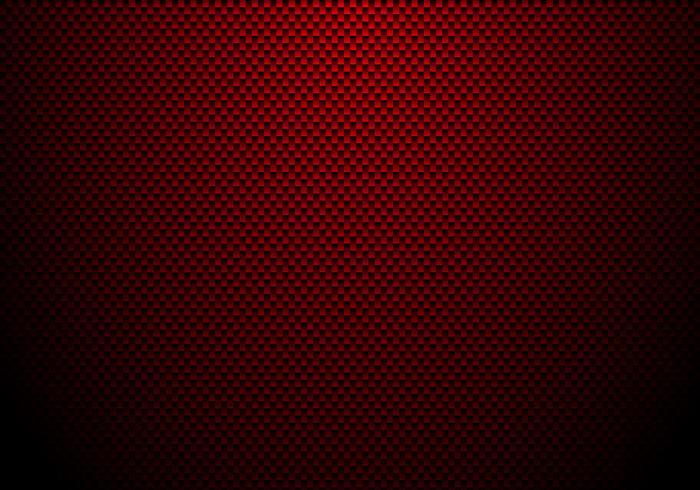 Fondo e struttura rossi della fibra di carbonio con illuminazione. Carta da parati materiale per l'ottimizzazione o il servizio dell'auto. vettore