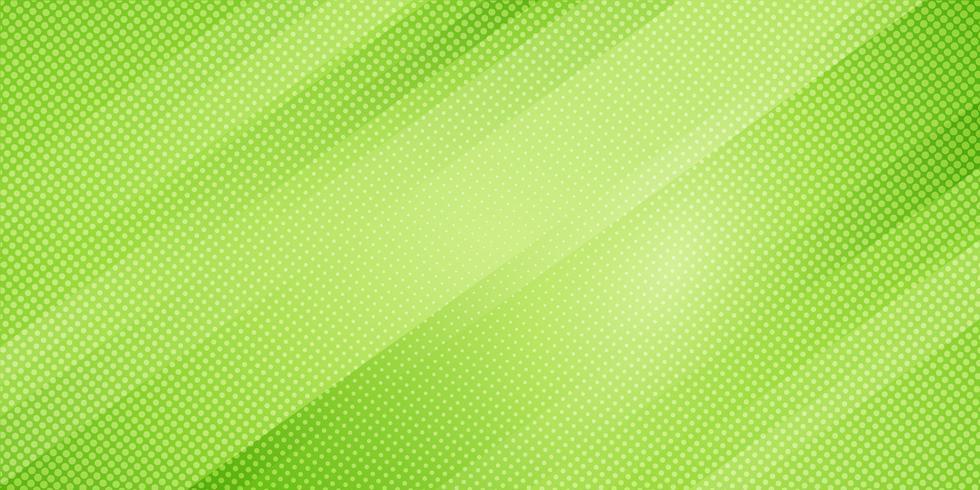 Le linee oblique di colore verde di pendenza della natura astratta barra il fondo e lo stile di semitono di struttura di punti. Trama minimal moderno modello geometrico elegante. vettore