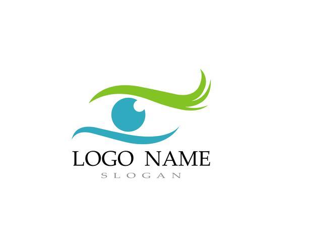 Icone di vettore del modello di logo e di simboli di cura dell'occhio