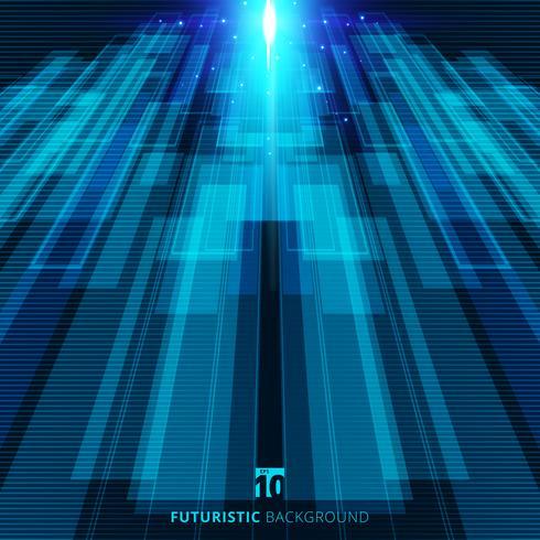 Fondo digitale futuristico di concetto virtuale blu astratto di tecnologia vettore