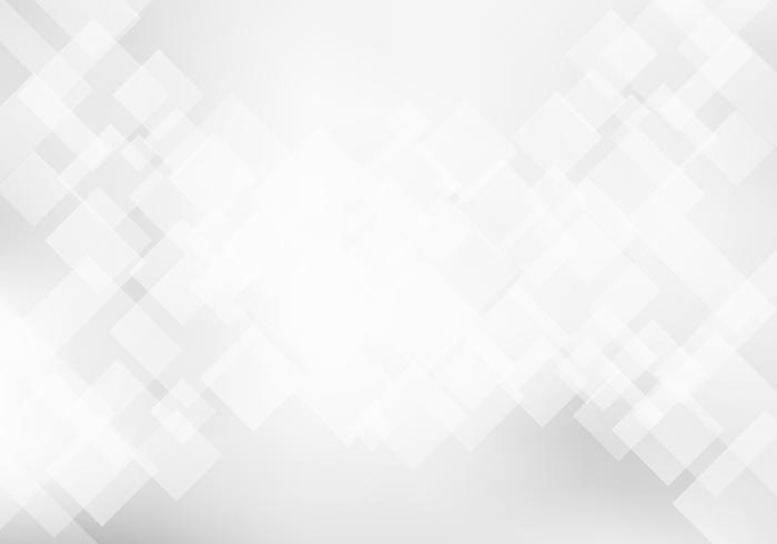 Astratto bianco e grigio elegante concetto di tecnologia di sfondo geometrico. Piazze pattern texture. vettore