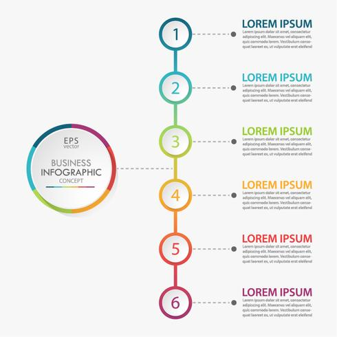 Visualizzazione dei dati aziendali. Icone infographic di cronologia progettate per modello astratto vettore