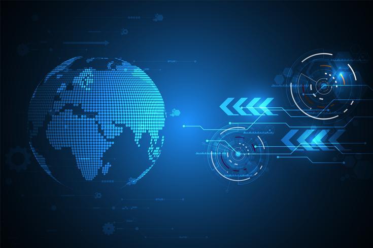 Vector innovazione tecnologica del mondo futuro.