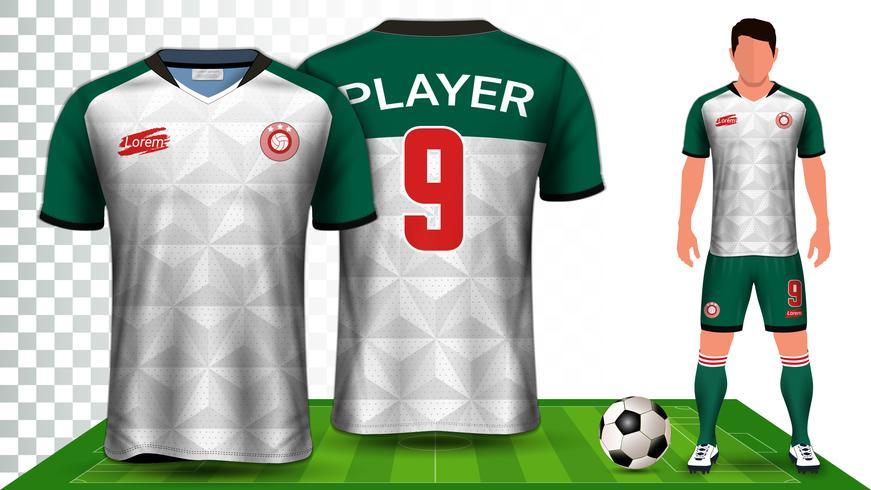 Modello di mockup di presentazione di Soccer Jersey e Football Kit. vettore