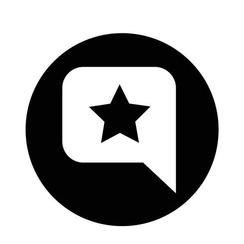 Icona stella Bolla di discorso vettore
