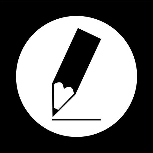 Icona della matita vettore
