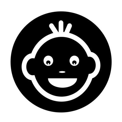 Icona faccia da bambino vettore