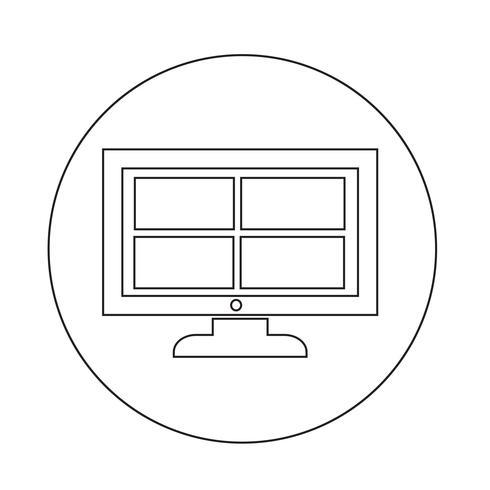 icona della tv vettore