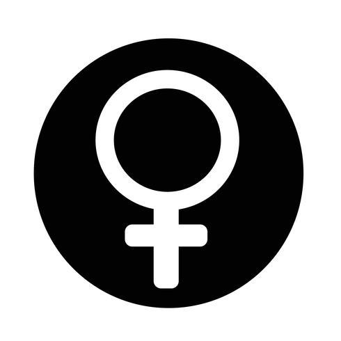 icona del segno femminile vettore