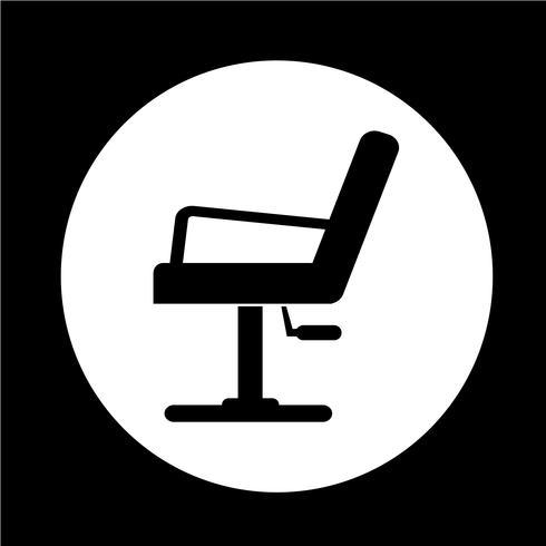 Icona di sedia da barbiere vettore