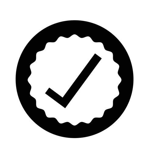 icona di approvazione vettore