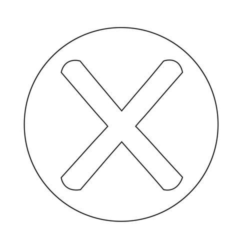 Icona del segno sbagliato vettore