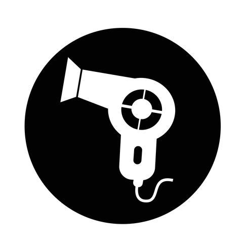 Icona dell'asciugacapelli vettore