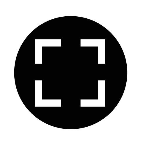 Icona di messa a fuoco vettore