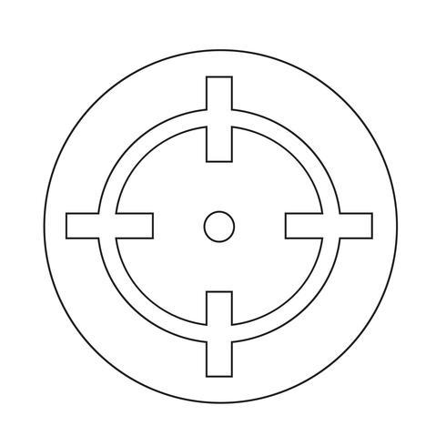 Icona di destinazione vettore