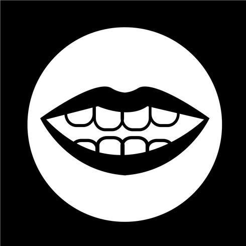 icona della bocca vettore
