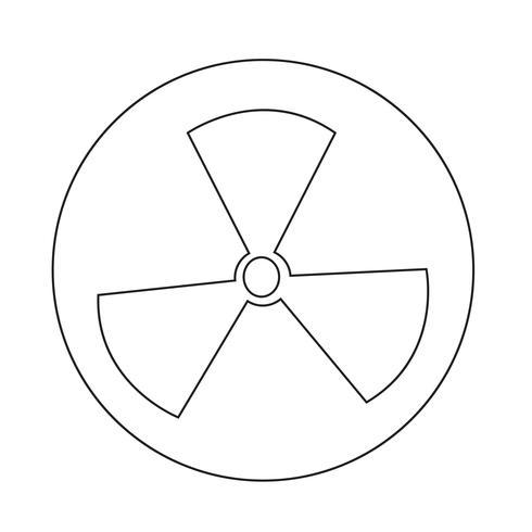 Icona del segno di radioattività vettore