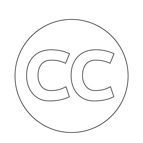 Icona CC di CreativeCommons vettore