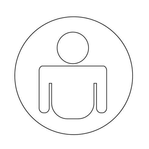 Icona della persona vettore
