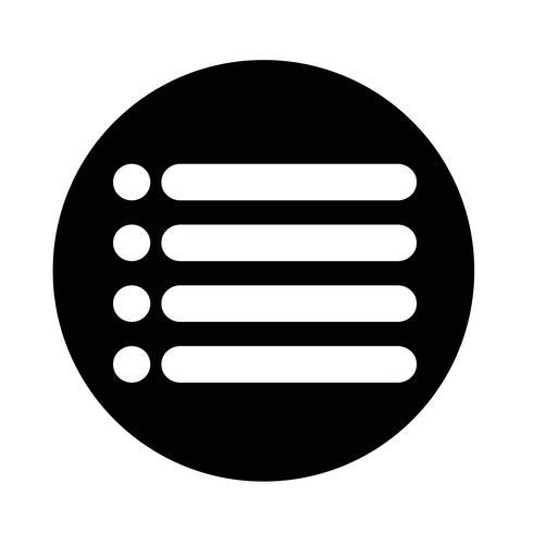 elenco segno icona vettore