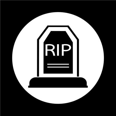 Icona Grave vettore