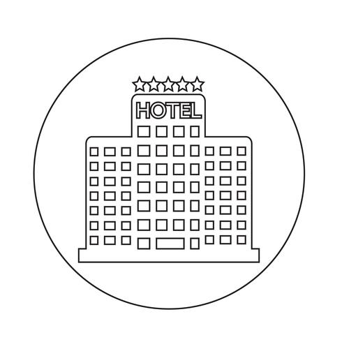 Icona Hotel vettore