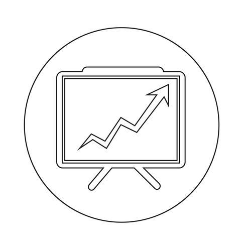Icona di presentazione grafico crescente vettore
