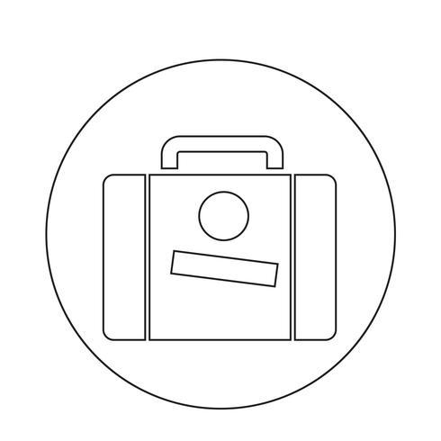 Icona della valigia vettore